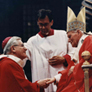 Receiving the pallium from Pope John Paul II